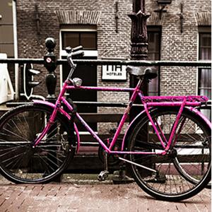 Tela Pink Bike 30x30cm