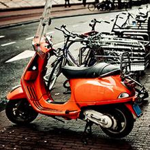 Tela Red Motorbike 30x30cm