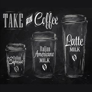 Tela Take a Coffee 30x30cm