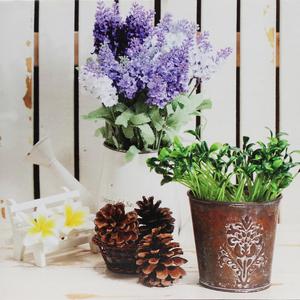 Tela Vasinhos de Flores 30x30cm
