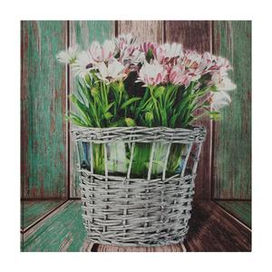 Tela Vaso de Flores 30x30cm