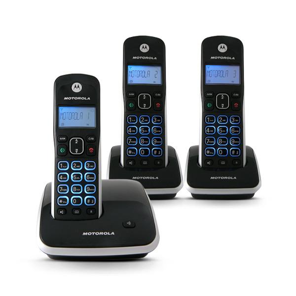 2d9d7dbdf Telefone sem Fio com Identificador com mais 2 Ramais AURI 3500 Motorola