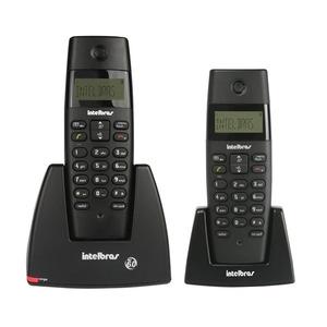 Telefone TS40C Sem Fio Digital  Preto Com Identicador de Chamadas Despertador Frequência 1.9Ghz Sem Viva-Voz Com Ramal Intelbras