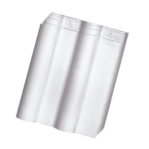 Telha Cerâmica Premier Branca 2 Lados 33x42cm Cejatel
