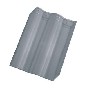 Telha Cerâmica Premier Cinza 2 Lados 33x42cm Cejatel