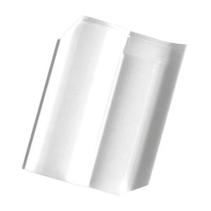 Telha Cerâmica Wave Branca 2 Lados 27x42cm Cejatel