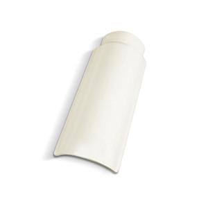 Telha Cumeeira de Cerâmica Marfim 42,3cm Cerbras