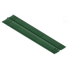Telha Cumeeira de Fibra Vegetal Acetinada Verde 48x200cm Onduline