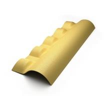 Telha Cumeeira de PVC Central Articulada Inferior Marfim Precon