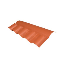 Telha Cumeeira de PVC Central Colonial Cerâmica Articulada Superior 15x88cm Permatex