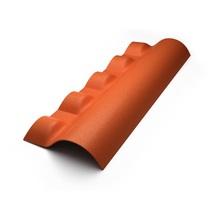 Telha Cumeeira de PVC Colonial Articulada Inferior Cerâmica Precon