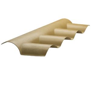 Telha Cumeeira de PVC Colonial Marfim 130x1,3cm Araforros