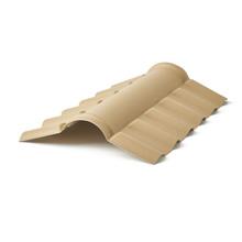 Telha Cumeeira de PVC Plan Marfim 80cm Precon