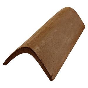 Telha de Concreto Capa Lateral Marrom Teggo Telhas