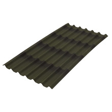 Telha de fibra Vegetal Stilo 3D Verde 1,95x0,96m Onduline