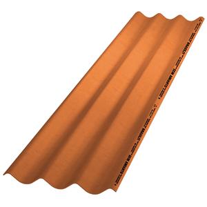 Telha de Fibrocimento Ondina Plus Cerâmica 2,44x0,50mx5mm Brasilit