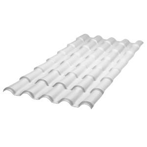 Telha de PVC Colonial Branco 0,88x2,30m Araforros