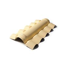 Telha de PVC Cumeeira Central Colonial PreconVC Marfim 56x90cm