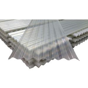 Telha Fibra de Vidro Incolor 2,44x0,51m Plastifibra