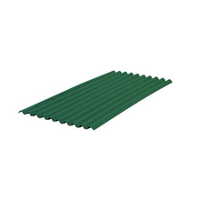 Telha Fibra Vegetal Ondulado Verde Tradicional 2 x 0,95 m