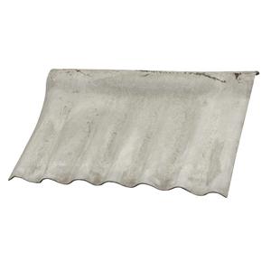 Telha Fibrocimento Cumeeira Ondulada Cinza 1,10x0,65m Eternit