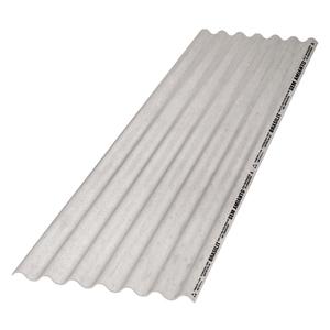 Telha Fibrocimento Fibrotex Cinza 4mm 1,22x0,5m Brasilit