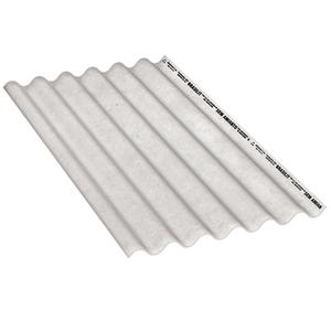 Telha Fibrocimento Ondulada Cinza 6mm 1,53x1,10m Brasilit