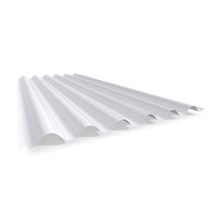 Telha Translúcida de Polipropileno Ondulada Alta Leitosa 1,10x2,13m Ibrap