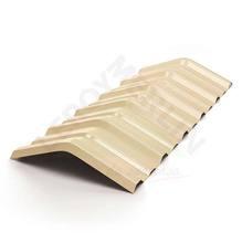 Telha Pvc Cumeeira  Trapezoidal Marfim 0,90x0,34cm Precon
