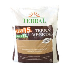 Terra Vegetal Leve 15 pague 12Kg Terral