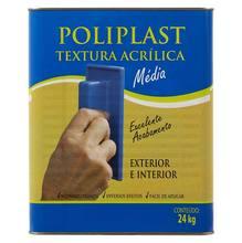 Textura Fosco Rugoso Premium 24kg Branca Poliplast