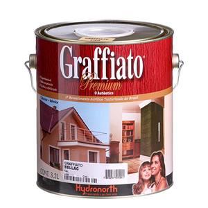 Textura Graffiato Liso Hydronorth 3,2L Branca