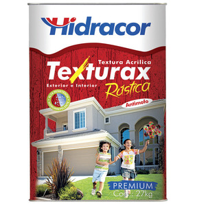 Textura Texturax Rústica Laranja Havai 27kg Hidracor