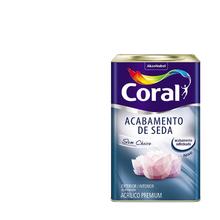 Tinta Acrílica Acetinada Acabamento de Seda Premium Branco 18L Coral