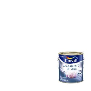 Tinta Acrílica Acetinada Acabamento de Seda Premium Branco 3,6L Coral