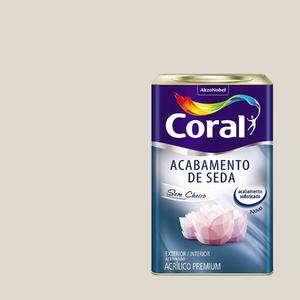 Tinta Acrílica Acetinada Acabamento de Seda Premium Gelo 18L Coral