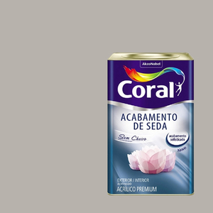 Tinta Acrílica Acetinada Acabamento de Seda Premium Zepelim 18L Coral