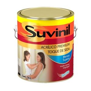 Tinta Acrílica Acetinada Premium Algodão Egípcio Toque Seda 3,6L