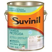 Tinta Acrílica Acetinado Premium Acrílico Premium Antibactéria Branca 3,60L Suvinil