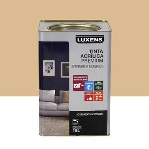 Tinta Acrílica Acetinado Premium Algodão Cru Natural 18L Luxens