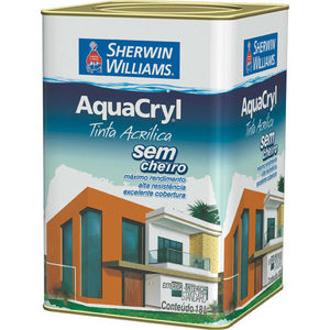 Tinta Acrílica Acetinado Aquacryl 18L Branco Sherwin Williams