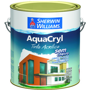 Tinta Acrílica Acetinado Aquacryl 3,6L Branco Sherwin Williams