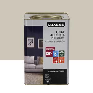 Tinta Acrílica Acetinado Premium Branco Antigo Colonial 18L Luxens