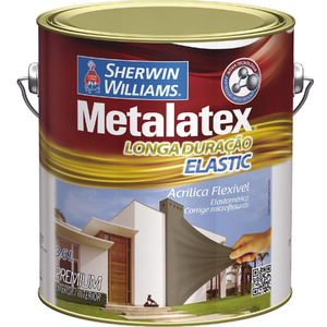 Tinta Acrílica Acetinado Metalatex Elastic 3,6L Concreto Intenso Sherwin Williams