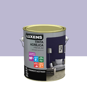Tinta Acrílica Acetinado Premium Lilás Natural Juvenil 3,6L Luxens
