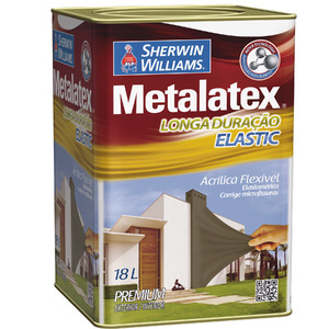 Tinta Acrílica Acetinado Metalatex Elastic 18L Verde Fortuna Sherwin Williams