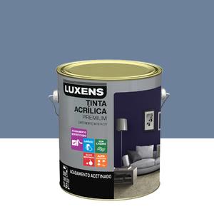 Tinta Acrílica Acetinado Premium Azul Baroque 3,6L Luxens