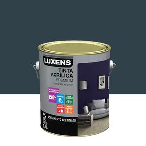 Tinta Acrílica Acetinado Premium Azul Industrial 3,6L Luxens
