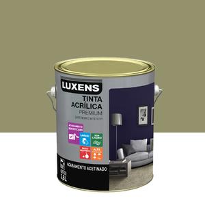 Tinta Acrílica Acetinado Premium Verde Reconnect 3,6L Luxens