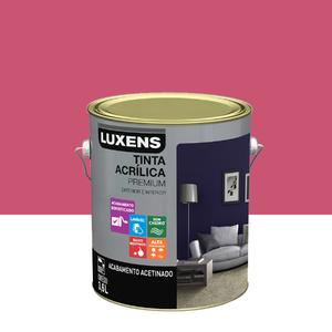 Tinta Acrílica Acetinado Premium Rosa Pink Hype Juvenil 3,6L Luxens